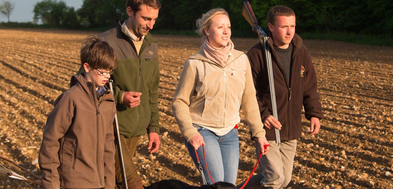 chasse à tir en famille