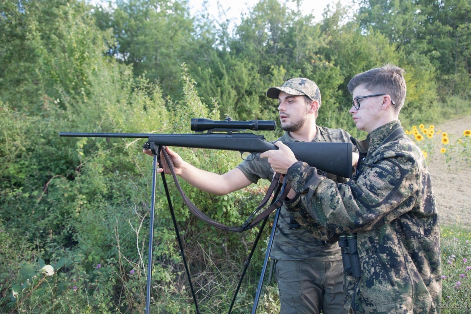 jeune chasseur en chasse accompagnée