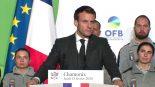 Emmanuel Macron Chamonix avec l'OFB biodiversité
