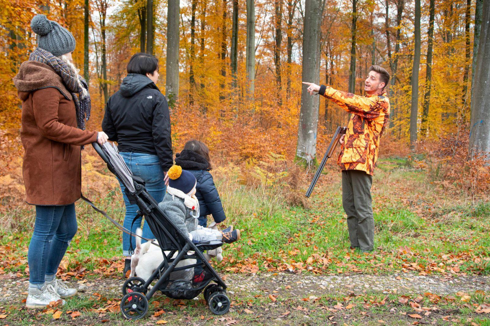 promeneurs chasseurs partage nature