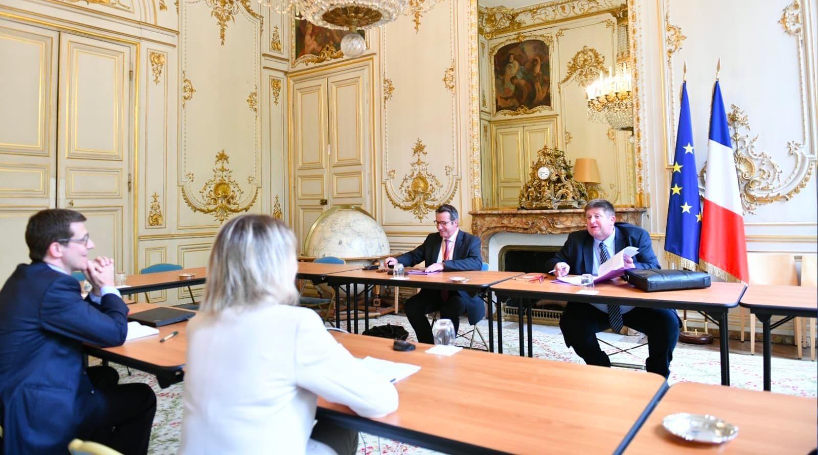 Rencontre de Willy Schraen, président de la FNC et la ministre Barbara Pompili