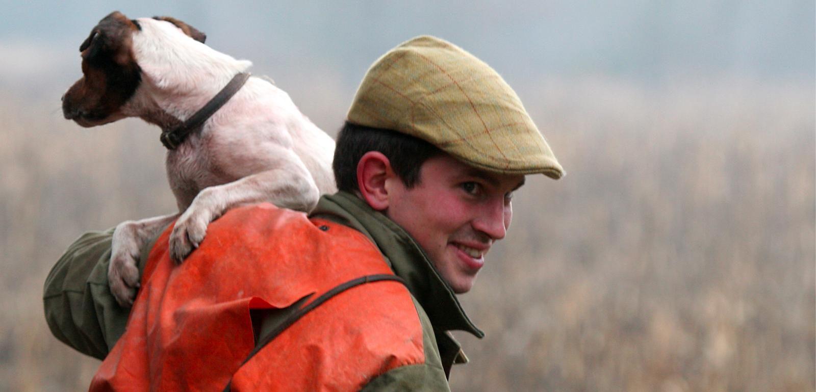 jeune chasseur et son chien