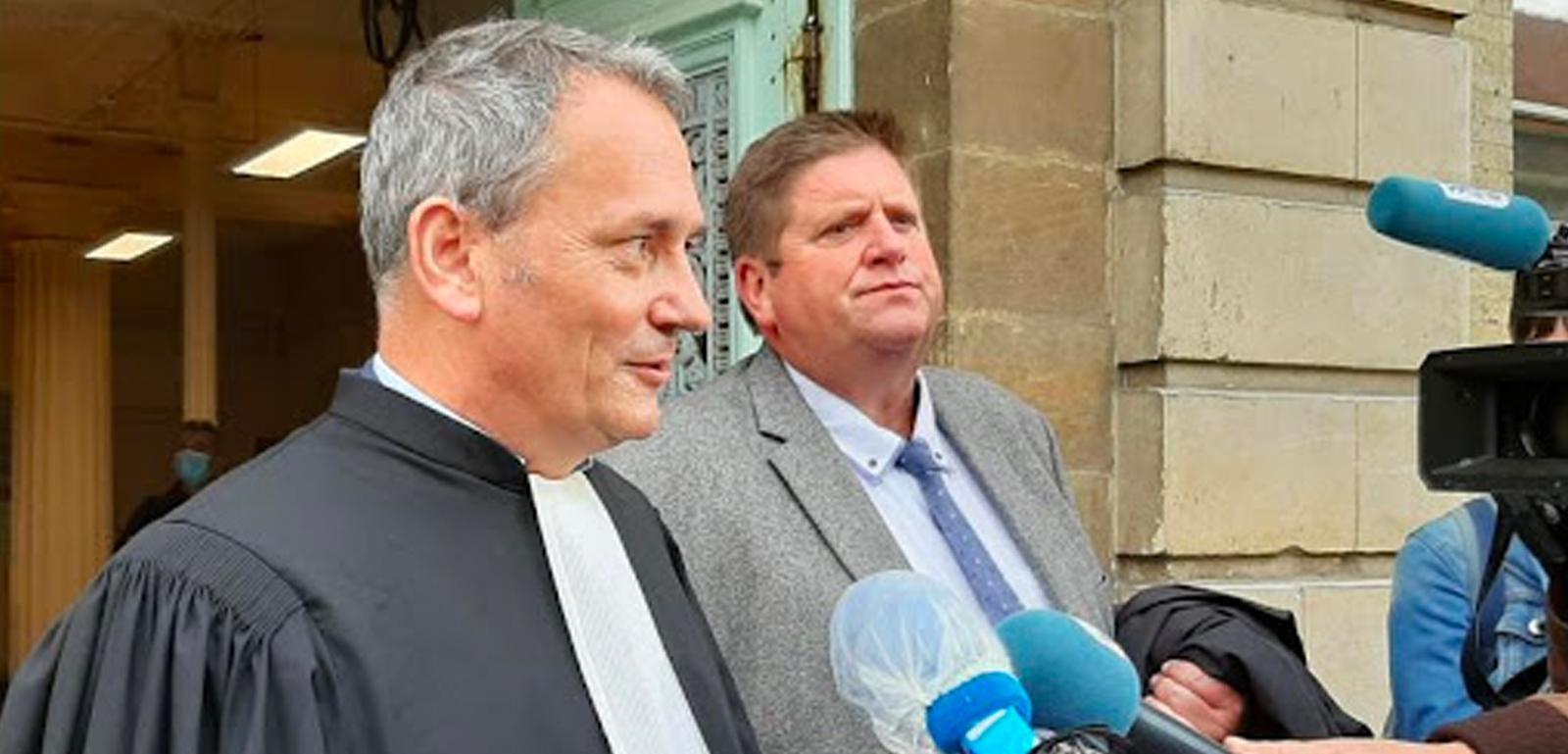 Willy Schraen et son avocat