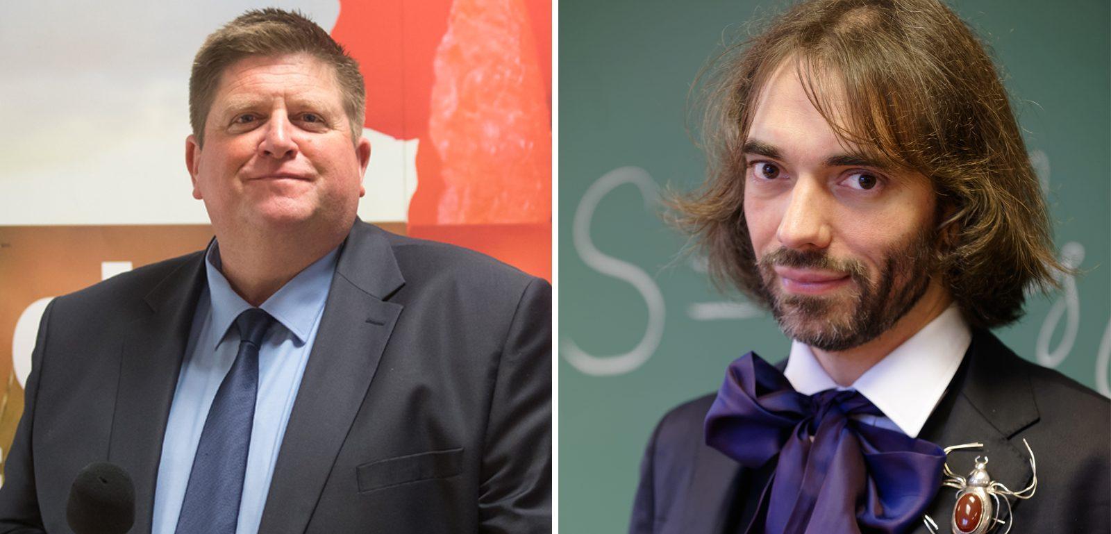 Willy Schraen et Cedric Villani