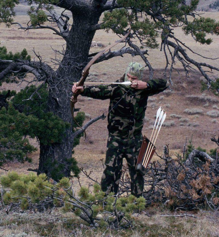 arc de chasse recurve chasseur nature